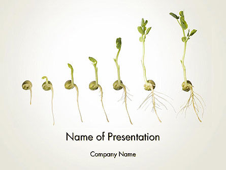 Technology and Science: Seed Germination PowerPoint Template #12414