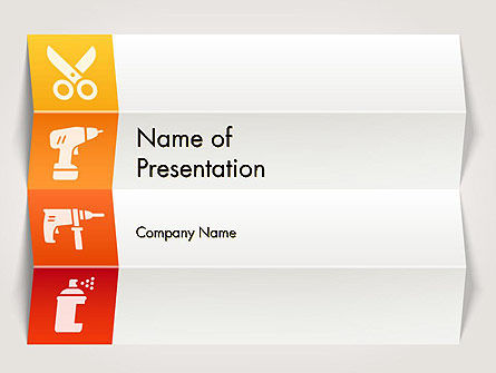 Tools and Construction Icons PowerPoint Template, 12415, Utilities/Industrial — PoweredTemplate.com