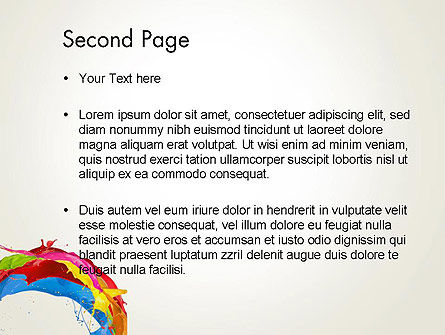 Colorful Paint Splash PowerPoint Template Slide 2