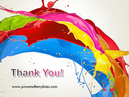 Colorful Paint Splash PowerPoint Template Slide 20
