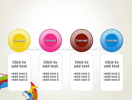 Colorful Paint Splash PowerPoint Template Slide 5