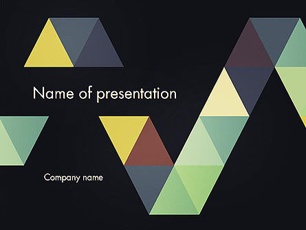 Abstract/Textures: Geometric Triangle Art PowerPoint Template #12418