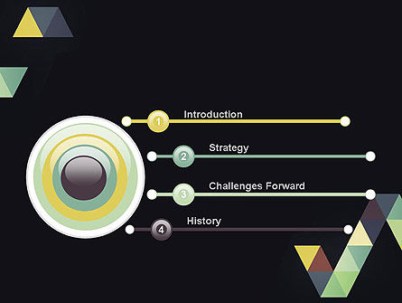 Geometric Triangle Art PowerPoint Template Slide 3