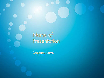 Abstract Blue Background PowerPoint Template, 12420, Abstract/Textures — PoweredTemplate.com