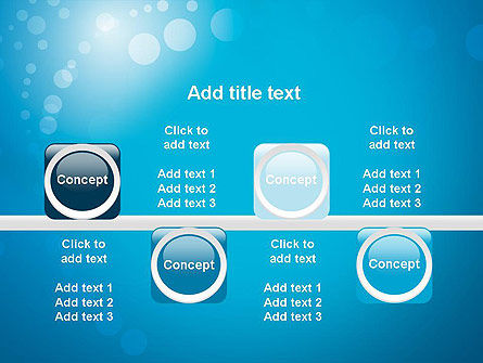 Abstract Blue Background PowerPoint Template Slide 18