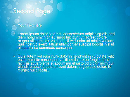 Abstract Blue Background PowerPoint Template, Slide 2, 12420, Abstract/Textures — PoweredTemplate.com