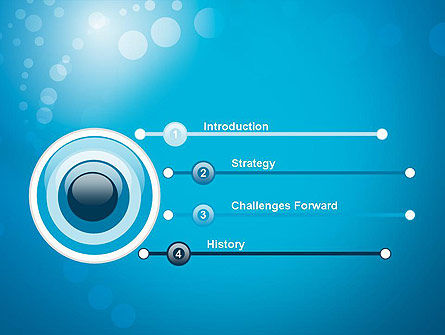 Abstract Blue Background PowerPoint Template, Slide 3, 12420, Abstract/Textures — PoweredTemplate.com