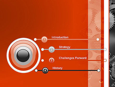 Cogwheels Concept PowerPoint Template, Slide 3, 12423, Utilities/Industrial — PoweredTemplate.com