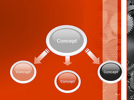 Cogwheels Concept PowerPoint Template, Slide 4, 12423, Utilities/Industrial — PoweredTemplate.com
