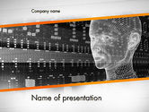 Technology and Science: Cyber Hacking PowerPoint Template #12425