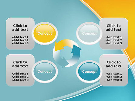Abstract Four Layers PowerPoint Template Slide 9