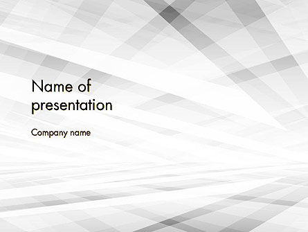 Abstract/Textures: Gray Layers Stretching Into Perspective PowerPoint Template #12427