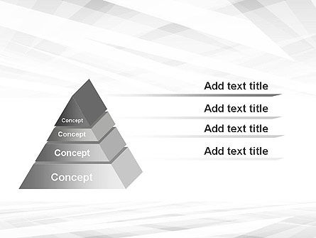 Gray Layers Stretching Into Perspective PowerPoint Template Slide 12