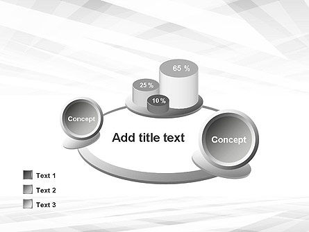 Gray Layers Stretching Into Perspective PowerPoint Template Slide 16