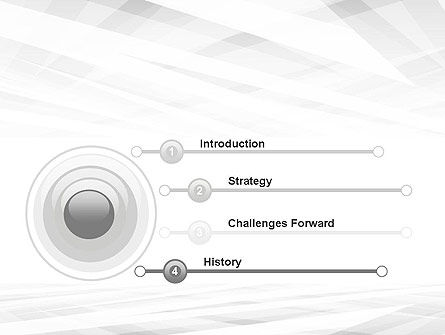 Gray Layers Stretching Into Perspective PowerPoint Template Slide 3