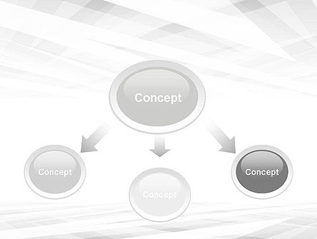 Gray Layers Stretching Into Perspective PowerPoint Template Slide 4
