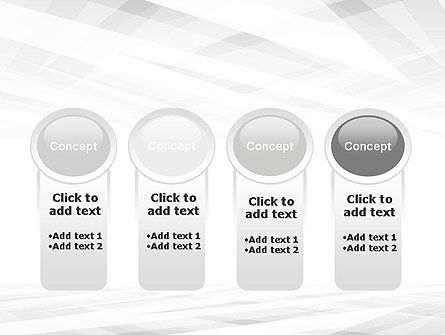 Gray Layers Stretching Into Perspective PowerPoint Template Slide 5