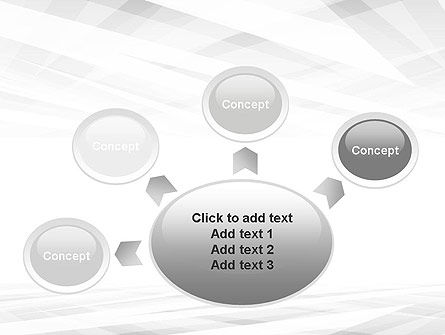 Gray Layers Stretching Into Perspective PowerPoint Template Slide 7