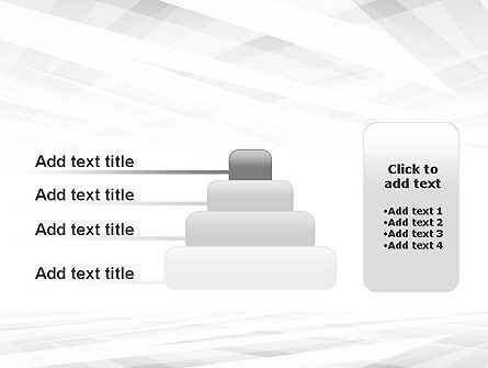 Gray Layers Stretching Into Perspective PowerPoint Template Slide 8
