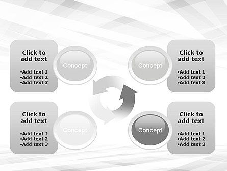 Gray Layers Stretching Into Perspective PowerPoint Template Slide 9