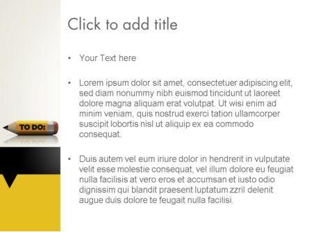Pencil Reminder PowerPoint Template, Slide 3, 12429, Business Concepts — PoweredTemplate.com