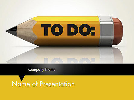 Pencil Reminder PowerPoint Template, 12429, Business Concepts — PoweredTemplate.com