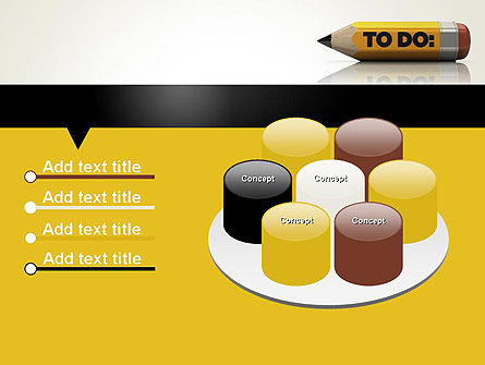 Pencil Reminder PowerPoint Template Slide 12