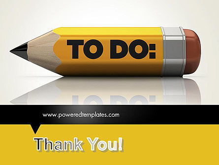 Pencil Reminder PowerPoint Template Slide 20