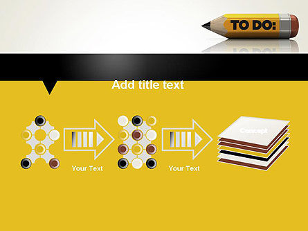 Pencil Reminder PowerPoint Template Slide 9