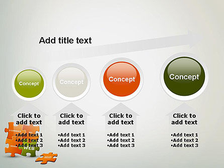 Puzzle with Internet Words PowerPoint Template Slide 13