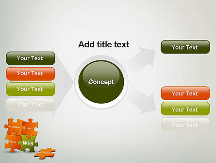 Puzzle with Internet Words PowerPoint Template Slide 14