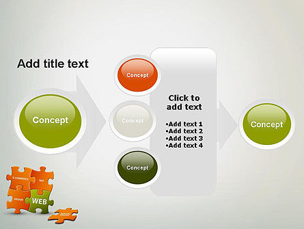 Puzzle with Internet Words PowerPoint Template Slide 17