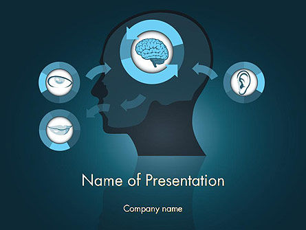 Medical: Human Senses PowerPoint Template #12434