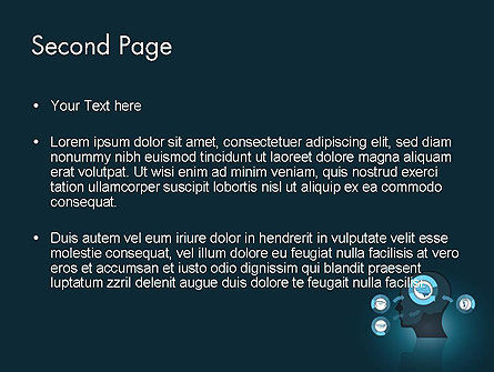 Human Senses PowerPoint Template, Slide 2, 12434, Medical — PoweredTemplate.com