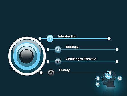 Human Senses PowerPoint Template, Slide 3, 12434, Medical — PoweredTemplate.com