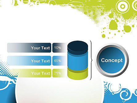 Blue and Green Abstract with Circles PowerPoint Template Slide 11