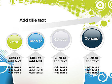 Blue and Green Abstract with Circles PowerPoint Template Slide 13