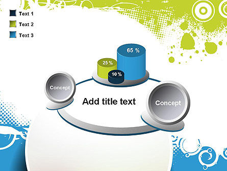 Blue and Green Abstract with Circles PowerPoint Template Slide 16
