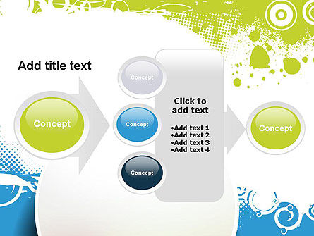 Blue and Green Abstract with Circles PowerPoint Template Slide 17