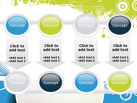 Blue and Green Abstract with Circles PowerPoint Template Slide 18