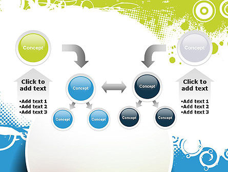 Blue and Green Abstract with Circles PowerPoint Template Slide 19