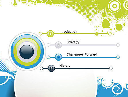 Blue and Green Abstract with Circles PowerPoint Template Slide 3