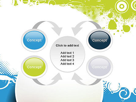 Blue and Green Abstract with Circles PowerPoint Template Slide 6