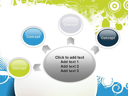 Blue and Green Abstract with Circles PowerPoint Template Slide 7