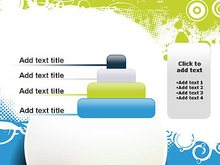 Blue and Green Abstract with Circles PowerPoint Template Slide 8