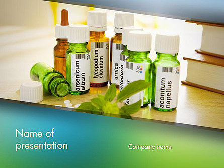 Homeopathic Remedies PowerPoint Template, 12438, Medical — PoweredTemplate.com