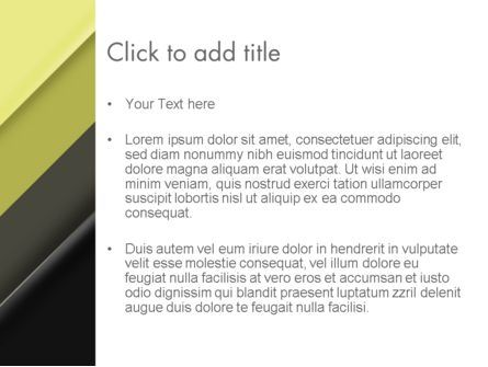 Tilted Light Green and Black Background PowerPoint Template, Slide 3, 12443, Abstract/Textures — PoweredTemplate.com