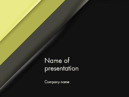 Tilted Light Green and Black Background PowerPoint Template