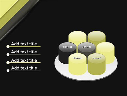 Tilted Light Green and Black Background PowerPoint Template Slide 12