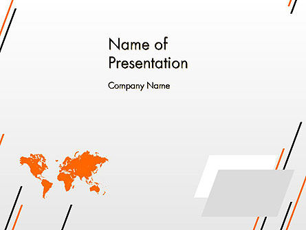 World Map Theme PowerPoint Template, 12444, Global — PoweredTemplate.com